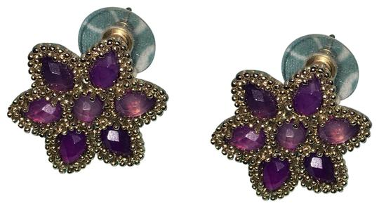 Preload https://img-static.tradesy.com/item/24434730/kendra-scott-purple-and-gold-multi-stone-flower-stud-earrings-0-1-540-540.jpg