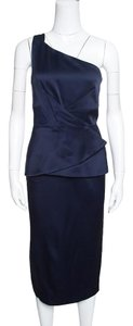 Roland Mouret short dress Navy Blue Silk on Tradesy