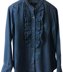 7 For All Mankind Top Chambray