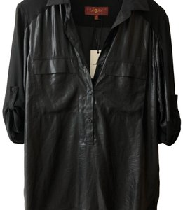 7 For All Mankind Button Down Shirt Black