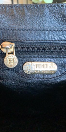 Fendi Vintage Leather Crossbody Shoulder Bag