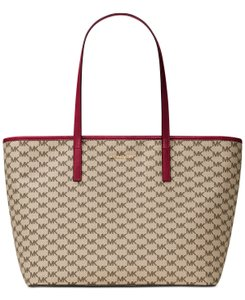 Michael Kors Natural/Cherry 190049388808 Tote in Natural/Cherry