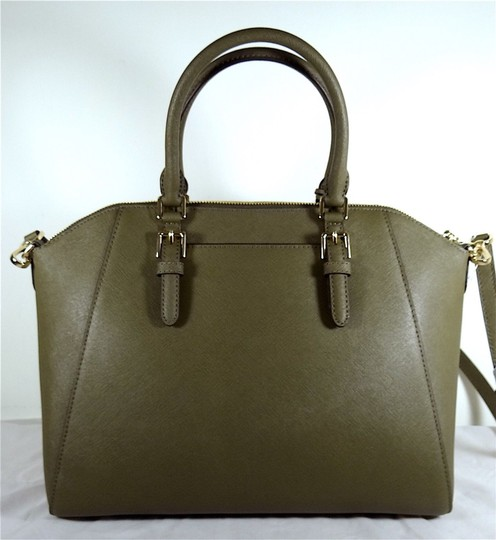 Michael Kors Leather 192317128925 Satchel in Olive