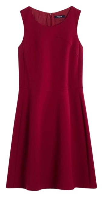 Preload https://img-static.tradesy.com/item/24434940/madewell-red-adore-in-burgundy-short-workoffice-dress-size-0-xs-0-1-650-650.jpg