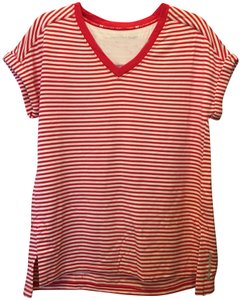 9b7eec8af Tommy Hilfiger And White Stripe V-neck Size M 8 To 10 New With Tags