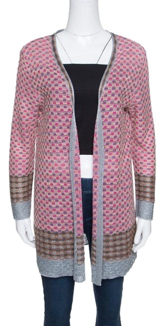 Preload https://img-static.tradesy.com/item/24435030/m-missoni-multicolor-patterned-lurex-knit-open-front-cardigan-size-10-m-0-1-650-650.jpg