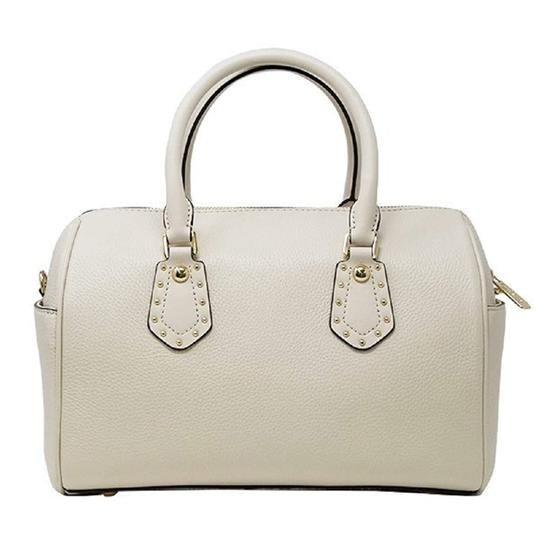 Michael Kors Leather 191935549549 Satchel in Ecru