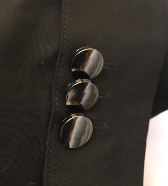 Calvin Klein Cotton Metal Toggle Button Size 4 S Small New With Tags Black Blazer
