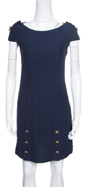 Preload https://img-static.tradesy.com/item/24435155/versace-navy-blue-collection-jacquard-knit-medusa-button-detail-short-casual-dress-size-6-s-0-1-650-650.jpg