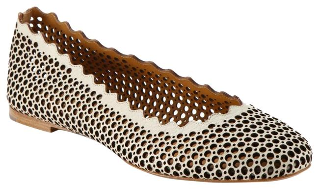Chloé Grey Scallopped Perforated Flats Size EU 38.5 (Approx. US 8.5) Regular (M, B) Chloé Grey Scallopped Perforated Flats Size EU 38.5 (Approx. US 8.5) Regular (M, B) Image 1