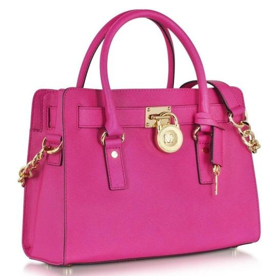 Preload https://img-static.tradesy.com/item/24435172/michael-kors-hamilton-medium-east-west-new-with-tags-fuchsia-pinkgold-hardware-saffiano-leather-satc-0-0-540-540.jpg