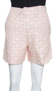 Roland Mouret Cotton Silk Mini/Short Shorts Pink