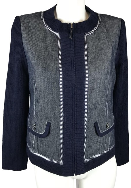 Preload https://img-static.tradesy.com/item/24435229/st-john-blue-sport-womens-santana-knit-navy-zip-jacket-size-6-s-0-1-650-650.jpg