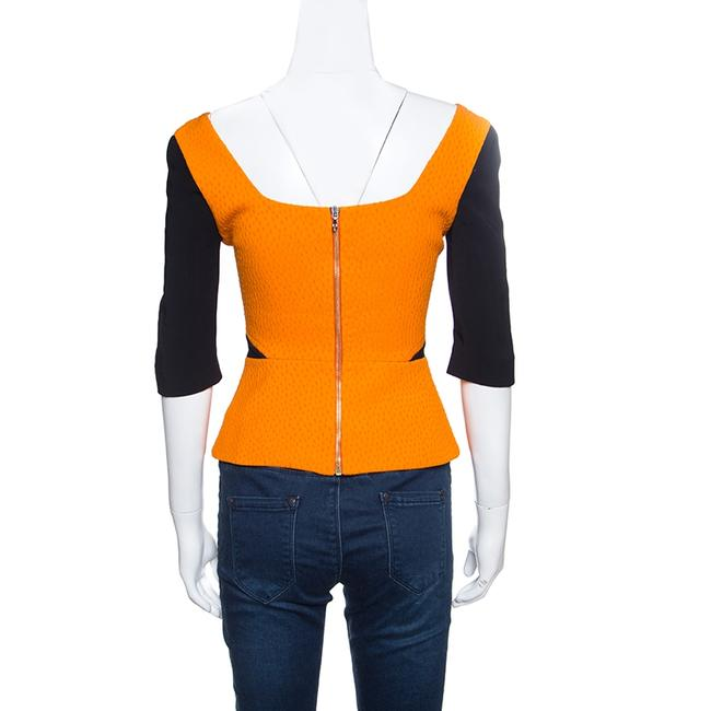 Roland Mouret Viscose Wool Polyester Top Multicolor