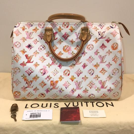 Louis Vuitton Watercolor Speedy Aquarelle Aquarelle Speedy Water Color Limited Edition Satchel in white
