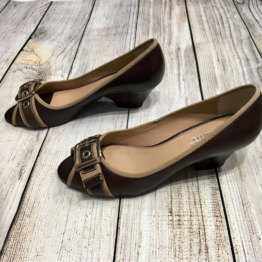 Franco Sarto Brown, Tan Pumps
