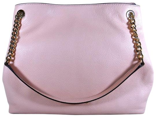 Preload https://img-static.tradesy.com/item/24435278/michael-kors-large-chain-shoulder-pebble-pastel-pink-leather-tote-0-1-540-540.jpg