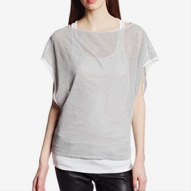 Michael Stars High Neck Muscle Drape Oversized Top grey