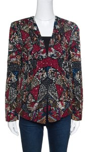 Alice + Olivia Multicolor Embellished Open Front Jacket S