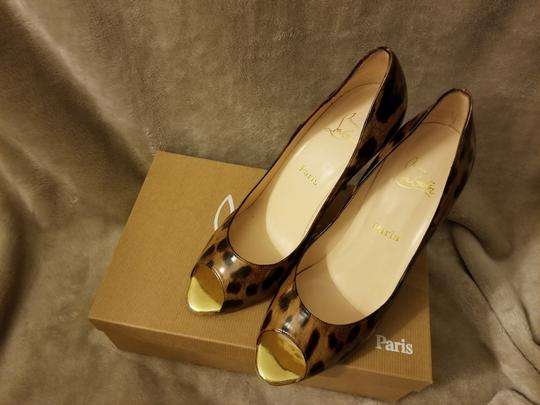 Christian Louboutin Leopard print (chocolate and tan tones) Pumps