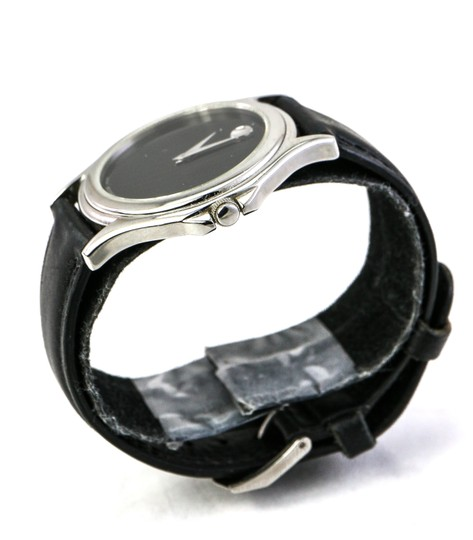 Movado Museum Black Leather Watch