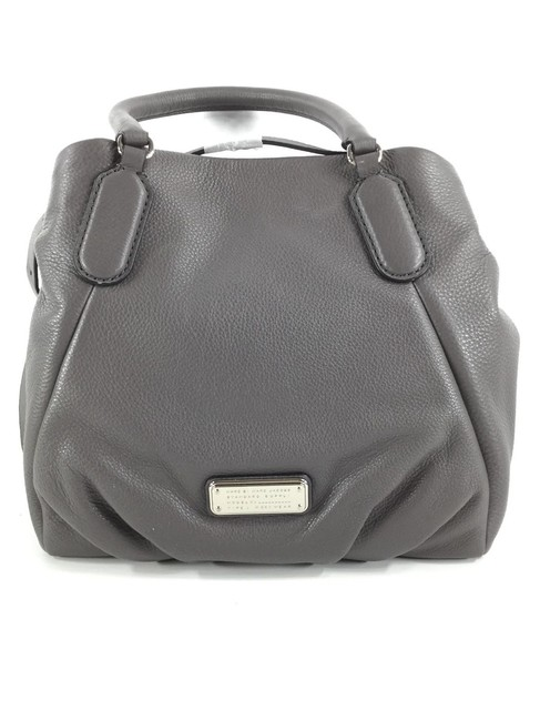 Item - New Q Fran Italian Convertible Satchel Purse (New with Tags) Faded Aluminum Grey/Silver Hardware Leather Tote