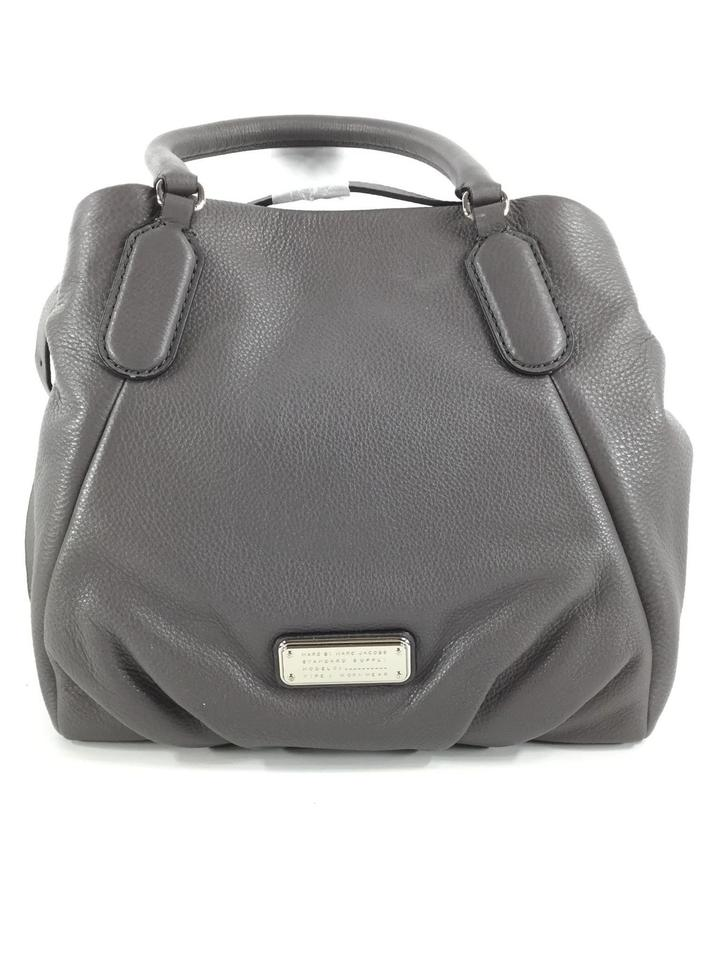 2c65523fb6cb Marc Jacobs Mj Black Italian Leather Purse Tote in FADED ALUMINUM  GREY SILVER hardware Image ...