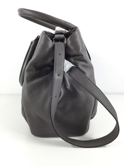 Marc Jacobs Mj Black Italian Leather Purse Tote in FADED ALUMINUM GREY/SILVER hardware