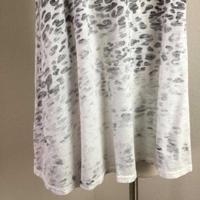 Michael Stars Raceback Scoop Supima Cotton Leopard Top black white