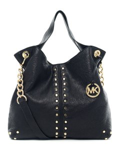 Michael Kors Shoulder Chain Studs Stud Tote in Black