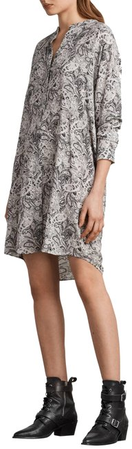 Item - Black/Grey/White Cayla Paisley Shirtdress Mid-length Short Casual Dress Size 4 (S)