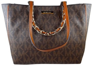 Michael Kors Pvc/ Leather 889154010062 Tote in Brown