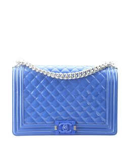 Chanel Patent Leather Box Fabric Italy Shoulder Bag