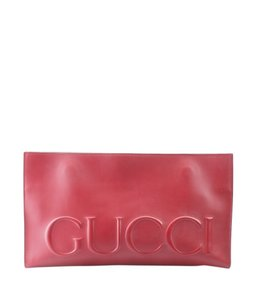 Gucci Leather Italy Adult Box Red Clutch
