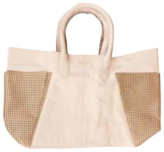 Preload https://img-static.tradesy.com/item/24435515/jimmy-choo-parfums-new-white-gold-faux-leather-tote-0-1-540-540.jpg