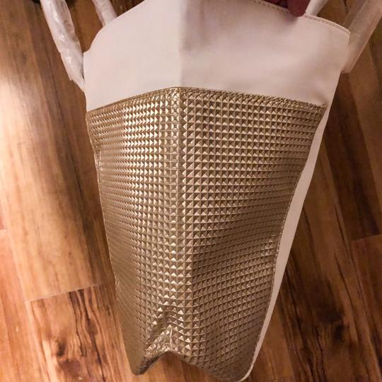 Jimmy Choo Tote in White, Gold