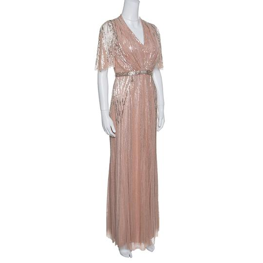 Jenny Packham Pink Blush Embellished Tulle Gown S Casual Wedding Dress Size 4 (S)