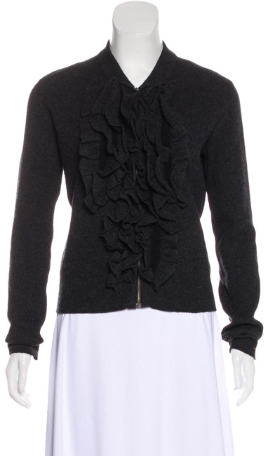 Preload https://img-static.tradesy.com/item/24435520/lanvin-charcoal-gray-cashmere-and-wool-blend-cardigan-size-6-s-0-1-650-650.jpg
