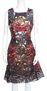 Peter Pilotto short dress Multicolor Floral Lace Silk Polyester Viscose on Tradesy