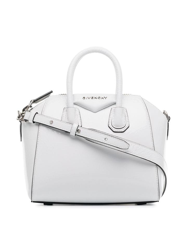 f4ed76c9c9b9 Givenchy Antigona Mini Shoulder Top Handle Tote White Patent Leather ...