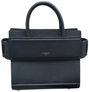 Givenchy Horizon Mini Calfskin Leather Satchel in black