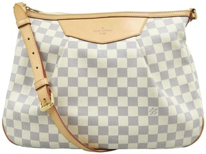 Louis Vuitton Siracusa Lv Mm Azur Canvas Hobo Bag