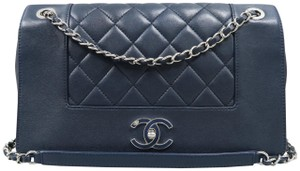 Chanel Calfskin Leather Mademoiselle Shoulder Bag