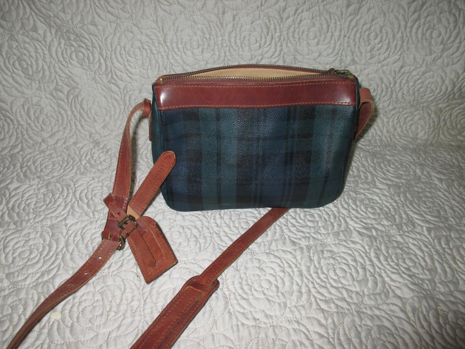 ca471f511db6 Polo Ralph Lauren Shoulder Vintage Tartan Purse Hunter Green Plaid Textured  Canvas   Leather Cross Body Bag - Tradesy