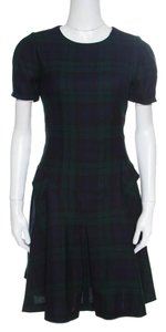 MCQ by Alexander McQueen short dress Green Wool Pleated on Tradesy