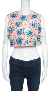 MARY KATRANTZOU Polyester Orange Halter Top