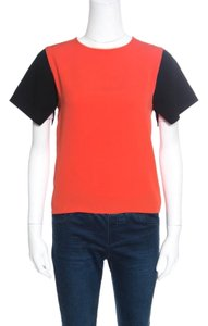 Céline Viscose Silk T Shirt Orange