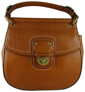 Coach Leather 886382092020 Satchel in BristishTAN-Brown