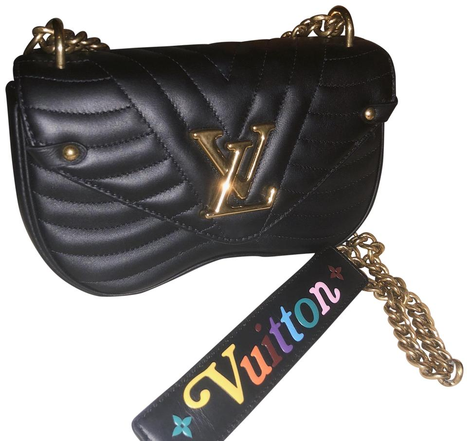 7e01902e2b4d Louis Vuitton New Wave Chain Pm Nior Black Calfskin Leather Cross ...