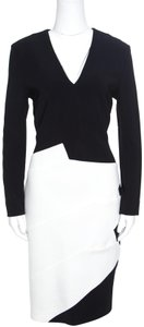 Roland Mouret Monochrome Wool Shift Dress
